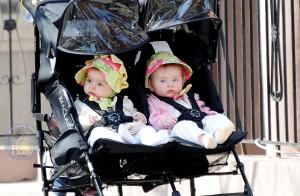 SJP's Twins Marion and Tabitha Enjoy A Sunny Stroll