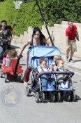 Nadya Suleman Packs Up Her Kids and Heads To The Park