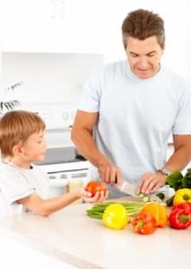 Dad Making Dinner