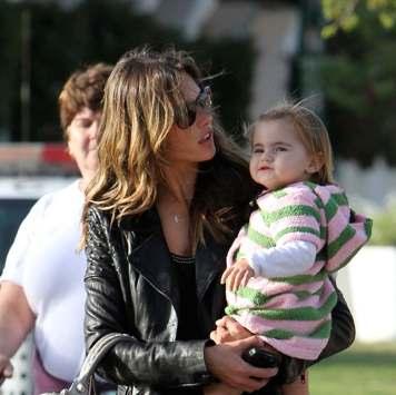 alessandra ambrosio baby shower. Alessandra and Anja Enjoy A