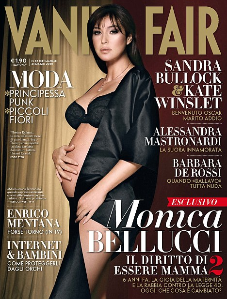 Monica Belucci Covers Vanity Fair April 2010