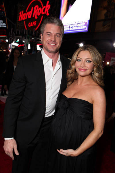 Rebecca Gayheart and Eric Dane at Premiere of Valentine's Day