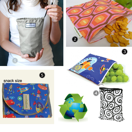 Snacking Goes Green!  5 Options For Reusable Snack Bags