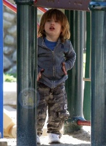 Jordan Bratman and Son Max Enjoy A Day At The Park