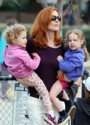 Marcia Cross and Her Girls Play At The Park