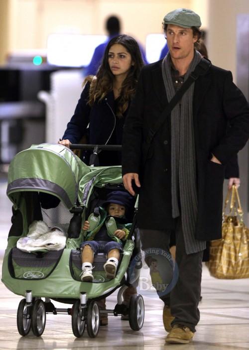 The McConaugheys Stroll Through LAX