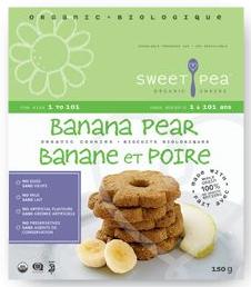 Sweet Pea Banana Pear Cookies