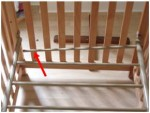 Recalled Simplicity Crib - fault shown