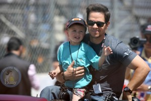Mark Wahlberg and Son Michael Kick Off Toyota Grand Prix