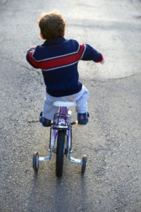 Child Riding His Bike