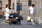 Roger and Mirka Federer Stroll in Rome with their twins