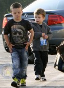 Cruz Beckham and John Moynahan