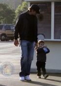 Tom Brady and son John Moynahan