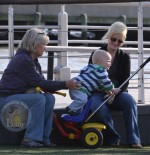 Amy Poeher and Son Archie Play in NYC