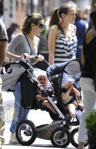 Sarah Jessica Parker with twins Marion and Tabitha