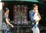 Kourtney Kardashian, Scott Disick and baby Mason