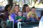 Brooke Mueller enjoying a train ride with her boys