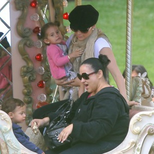 Jennifer Lopez Treats Max and Emme To A Carousel Ride in Monaco