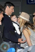 Karolina Kurkova with son Tobin and Fiance Archie