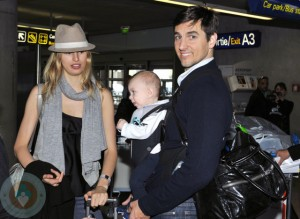 Karolina Kurkova with son Tobin and Fiance Archie