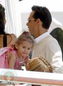 Marc Anthony and daughter Emme  at the Eden Roc Hotel