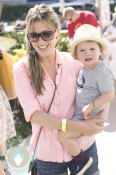 Actress Kathleen Robertson and her son William