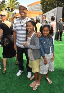 Russell Simmon and daughters Ming and Aoki