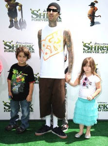 Travis Barker  Landon and daughter Alabama