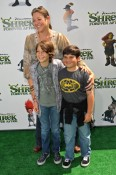 Camryn Manheim with son Milo and a friend