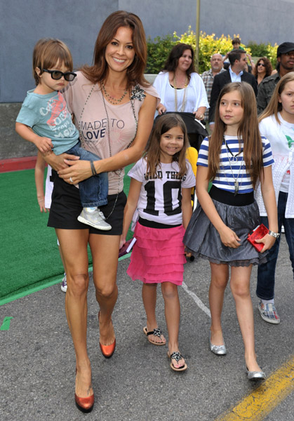 Brooke Burke with son Shaya and daughters Sierra and Neriah