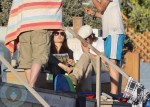 Brad and Angelina Relax at The Beach in Malibu