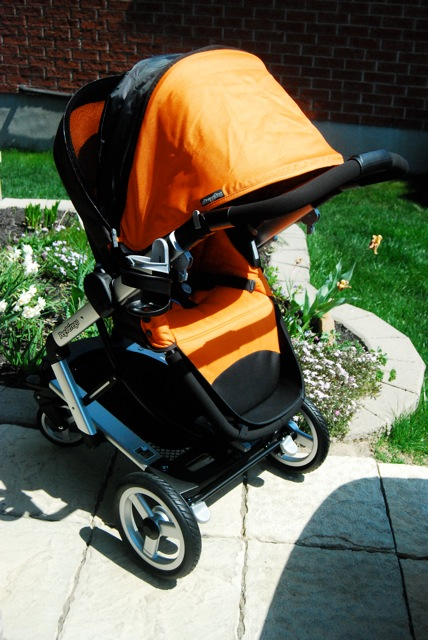 Stroller seat with canopy fully opened