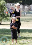 Gwen With Kids Kingston and Zuma