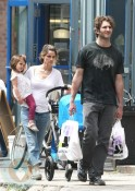 The Benioffs: David, Frances, Amanda and Molly in the stroller