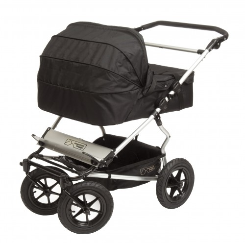 Twin Black Carrycot on Duo