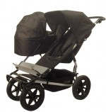 black duo single carrycot on buggy