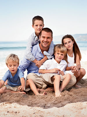 Chris O'Donnell with kids