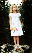 Spring Showers Handmade Eco Peasant Shift Dress