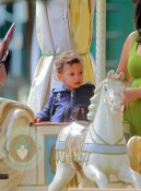 Max Anthony on the carousel