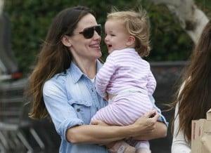 Jennifer Garner and Seraphina Affleck in LA