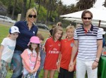 David Duchovny, Téa Leoni and kids Madelaine and Kyd