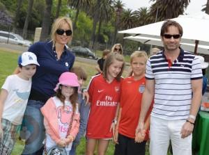 David Duchovny, Téa Leoni and kids Madelaine and Kyd