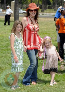 Joely Fisher with daughters Skylar and True
