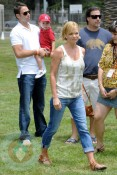 Jaime Pressly with husband Simran Singh and son Dezi