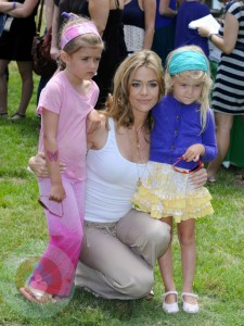 Denise Richards with daughters Sam and Lola