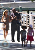 Heidi Klum and Seal with Leni and Henry