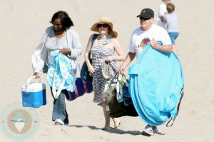 Amy Adams at the beach