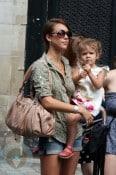 Jessica Alba and daughter Honor Marie in Paris