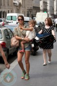 Jessica Alba and daughter Honor Marie in Paris
