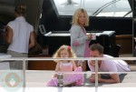 Geri Halliwell, Henry Beckwith and Bluebell in South of France